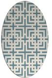 rug #1222676 | oval check rug