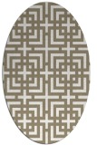 rug #1222679 | oval beige geometry rug