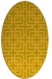 rug #1222685 | oval check rug