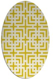 rug #1222691 | oval yellow check rug