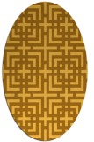 rug #1222695 | oval yellow check rug