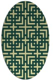 rug #1222699 | oval yellow check rug