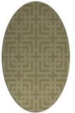 rug #1222707 | oval light-green popular rug