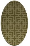 rug #1222715 | oval light-green check rug