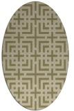 rug #1222718 | oval check rug