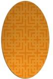 rug #1222723 | oval light-orange check rug