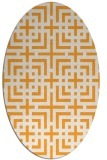 rug #1222727 | oval light-orange rug