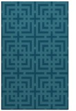 rug #1222799    blue-green check rug