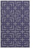 rug #1222819 |  blue-violet check rug