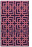 rug #1222823 |  blue-violet check rug