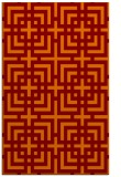 rug #1222943 |  red-orange check rug