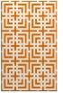 rug #1222947 |  orange check rug