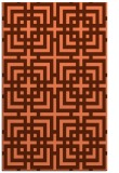 rug #1222955 |  red-orange check rug