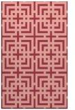 rug #1222967 |  pink check rug