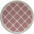 rug #122301   round pink traditional rug