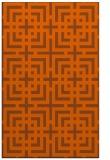rug #1223015 |  red-orange check rug