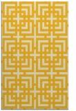 rug #1223051 |  yellow check rug