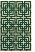 rug #1223067 |  blue-green check rug