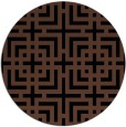 rug #1223115 | round brown check rug