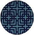 rug #1223133 | round check rug