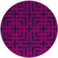 rug #1223135 | round blue check rug