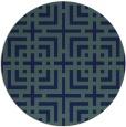 rug #1223139   round check rug