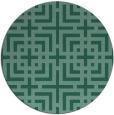 rug #1223155 | round blue-green check rug