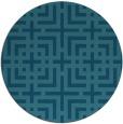 rug #1223167 | round blue-green check rug