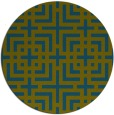 rug #1223175 | round green check rug