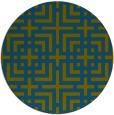 rug #1223176 | round check rug