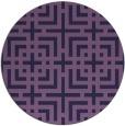 rug #1223195 | round purple check rug