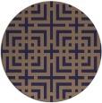 rug #1223203 | round beige check rug