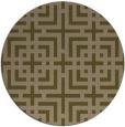 rug #1223211 | round brown check rug