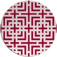 rug #1223215 | round red check rug