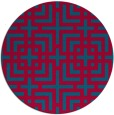 rug #1223219 | round blue-green check rug