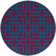 rug #1223220 | round check rug