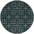 rug #1223231 | round blue-green check rug