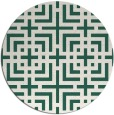 rug #1223235 | round blue-green check rug