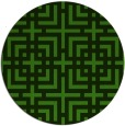 rug #1223243 | round green check rug