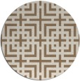 rug #1223259   round beige check rug