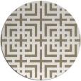 rug #1223263 | round white check rug