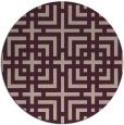 rug #1223275 | round check rug