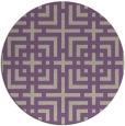 rug #1223287 | round purple check rug