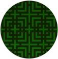 rug #1223307 | round green check rug