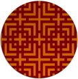 rug #1223311 | round red-orange check rug