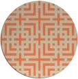 rug #1223319 | round beige check rug