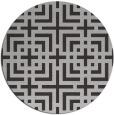 rug #1223323 | round red-orange check rug