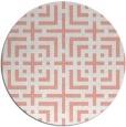 rug #1223339   round white check rug