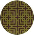 rug #1223347 | round purple check rug