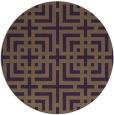 rug #1223351 | round purple check rug